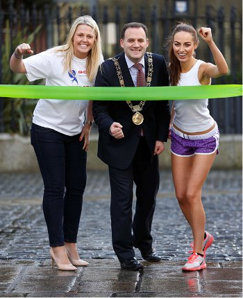 Jacqui Hurley, the Lord Mayor of Dublin, Naoise O'Muiri and Daniella Moyles