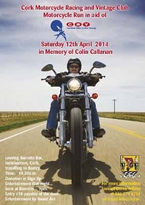CRY Motorycle poster A4